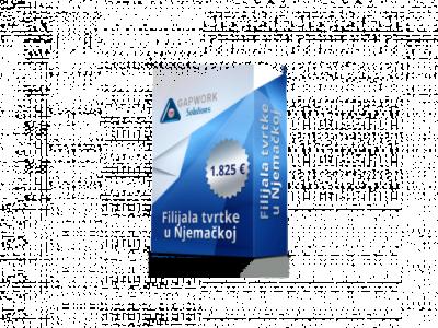FILIJALA TVRTKE U NJEMAČKOJ 1.825 € +19% PDV